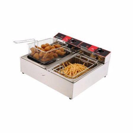 Fritadeira Elétrica 2 Bacias Metal Cubas FRCE 6
