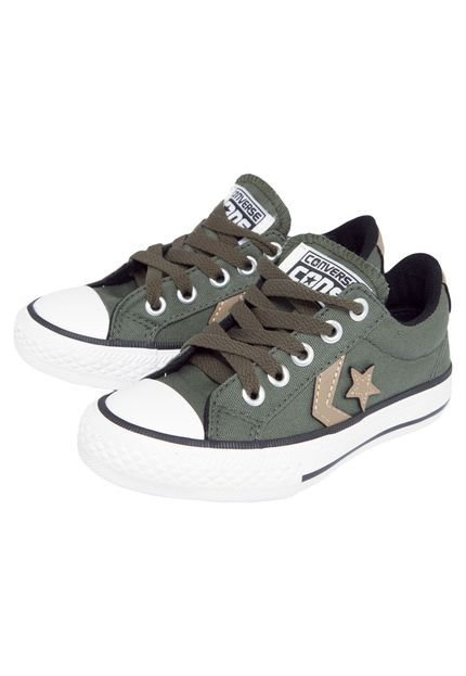 TÊNIS INFANTIL CONVERSE ALL STAR STAR PLAYER VERDE