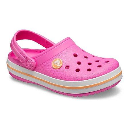 CROCS INFANTIL CROCBAND PINK E LARANJA 204537-6QZ - PINK