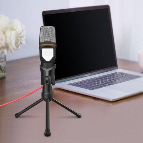 Microfone Condensador de Mesa Pc e Notebook Cabo 1.85m - xTrad