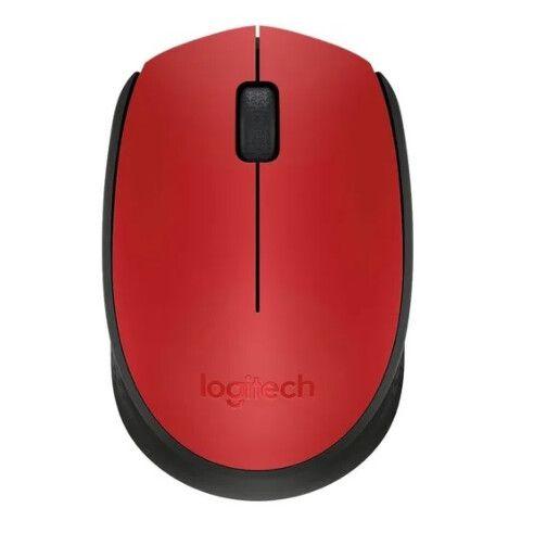 Mouse Sem Fio Logitech Wireless Usb Ambidestro Rc/nano Vermelho - M170