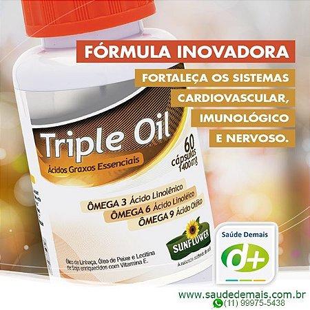 Triple Oil: Ômegas 3,6,9 1,4 g - 60 Caps