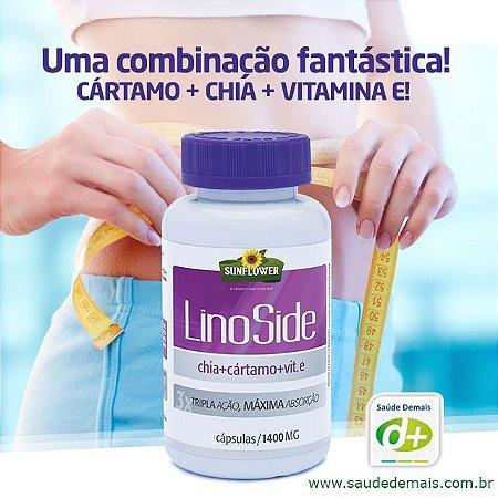 Lino side Cártamo, Chia e Vit.E 1,4 g - 120 Caps