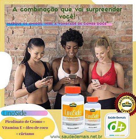 Lino side Cártamo, Picolinato, Coco e Vit.E 1,4 g - 120 Caps