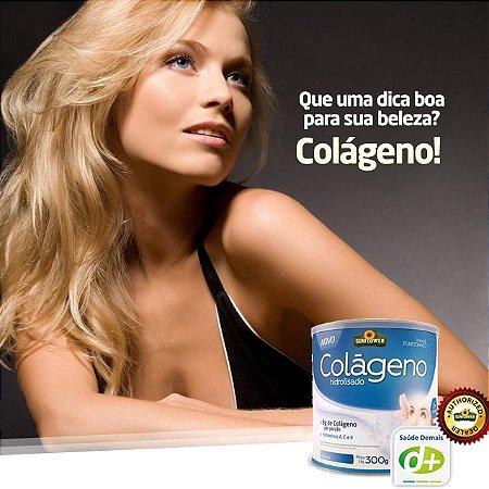 Colágeno Sabor Natural 300g  - Vitaminas A, C, E e o Zinco