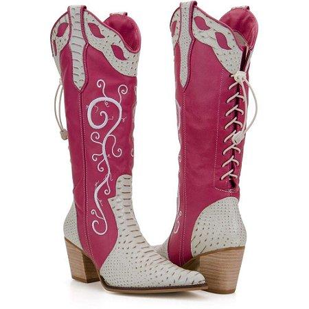 bota texana country feminina cano alto bordado bico fino leve inclinado  aladim imitação de cobra solado em couro costurado a mão  diversos modelos  ( Com ... 23c3f61d0f7