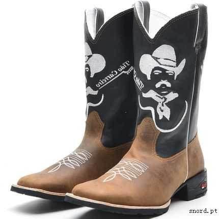 ab33705bbe bota texana country masculin cano médio bordado Tião Carreiro bico quadrado  solado em borracha (outras