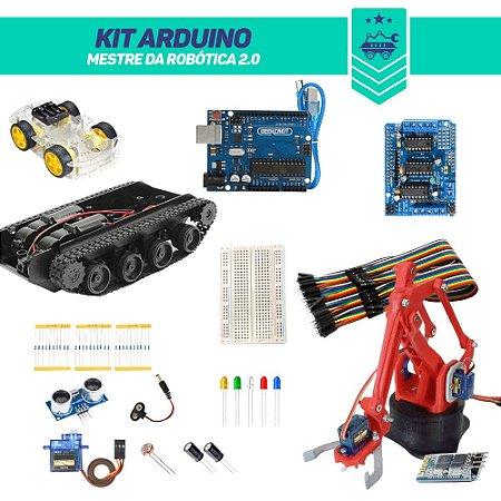 Kit Arduino Mestre da Robótica 2.0