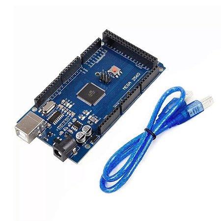 Mega 2560 R3 CH340 + Cabo Usb para Arduino