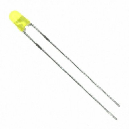 LED Difuso 3mm Amarelo
