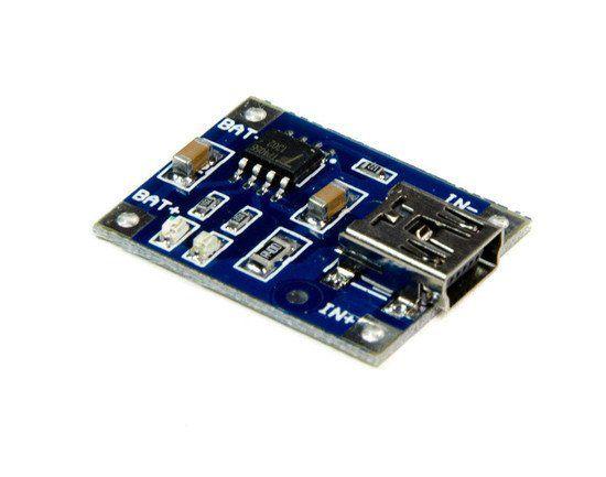 Módulo Carregador de Baterias de Lítio TP4056 - MINI USB
