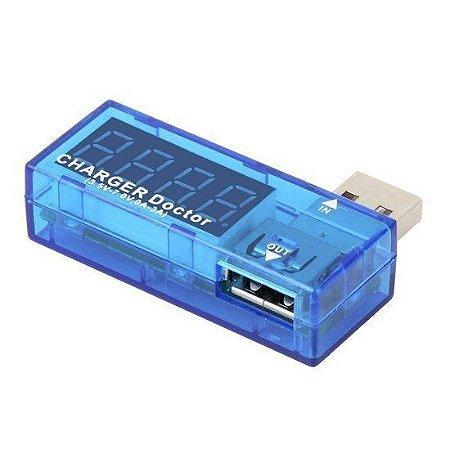 Testador de Tensão e Corrente p/ Porta USB