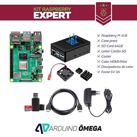 Kit Raspberry PI 4  Expert - 4GB RAM Model B SD Card 64GB