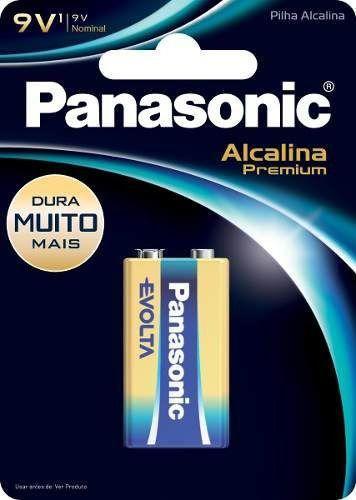 Bateria 9V Alcalina Premium Panasonic