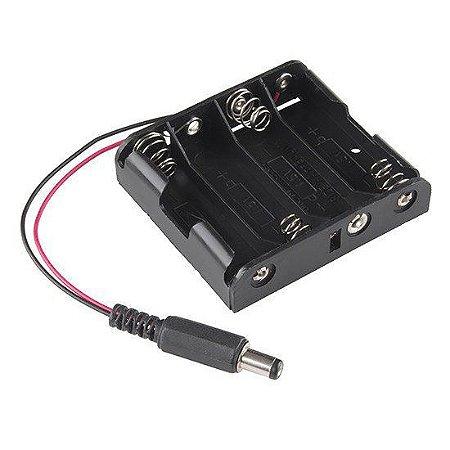 Suporte para 4 Pilhas AA com Plug do Arduino