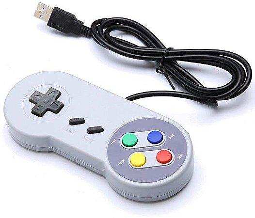 Controle para PC USB tipo Nintendo Compatível com Raspberry Pi
