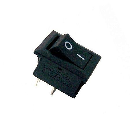 Mini Chave Gangorra KCD11-101 2 Terminais Preta