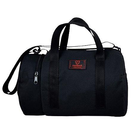 Mala Esportiva Mini Bag Everbags Preto Vermelho