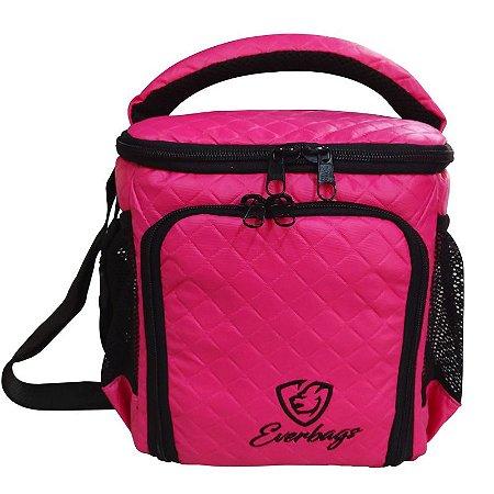 Bolsa Térmica Compacta Matelassê Pink