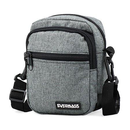 Shoulder Bag Mini Cinza Mescla