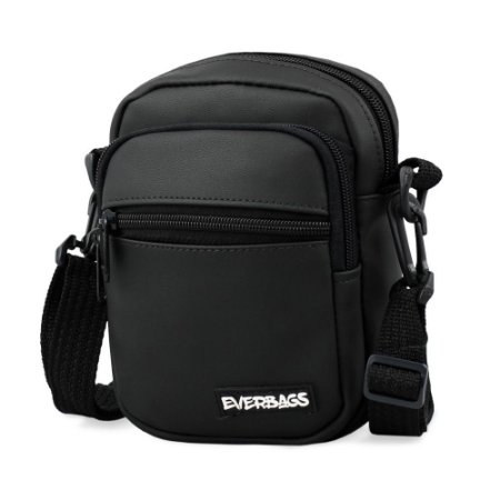 Shoulder Bag Black Mini Emborrachada