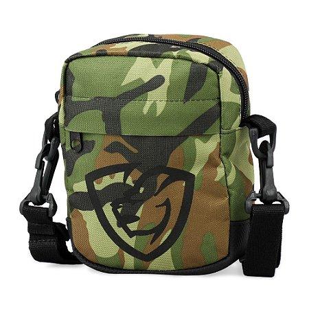 Shoulder Bag Camuflada Logotipo Emborrachado