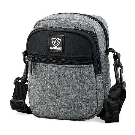 Shoulder Bag Cinza e Preta
