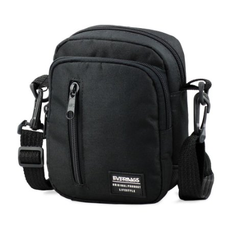 Shoulder Bag Black Zíper
