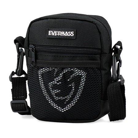 Shoulder Bag Black Mini Redinha Logotipo Everbags