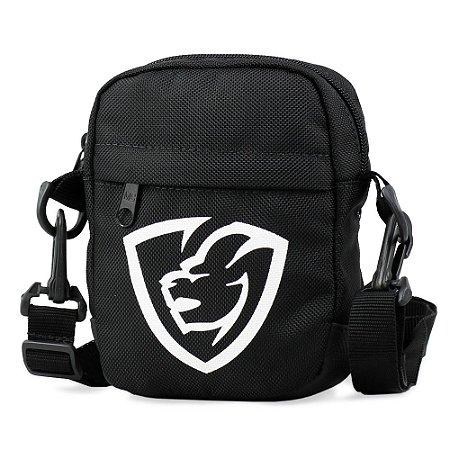 Shoulder Bag Black Logo Emborrachado