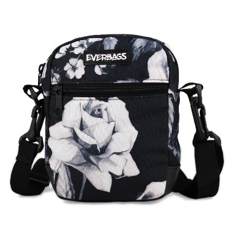 Shoulder Bag  Floral Preto Everbags