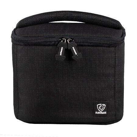 Bolsa Térmica Fitness Lancheira Lunch Bag Preto Everbags