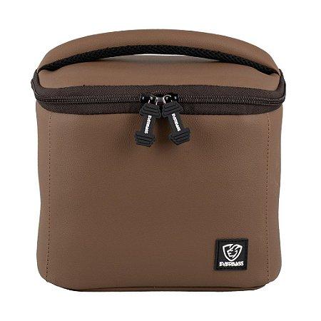 Bolsa Térmica Fitness Lancheira Lunch Bag Marrom Everbags