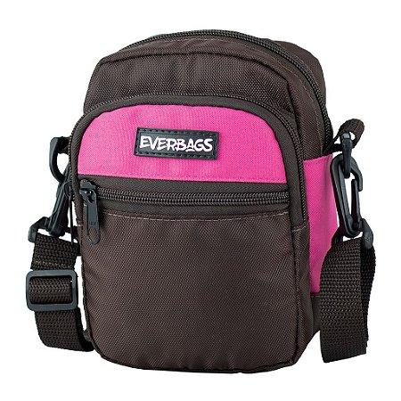 Shoulder Bag Marrom Rosa Everbags