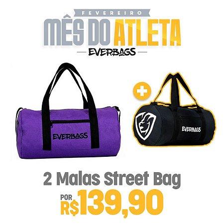 KIT 2 Malas de Treino Streetbag - Roxa + Black