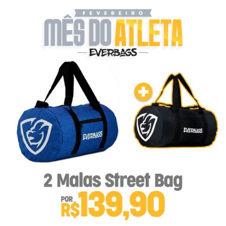 KIT 2 Malas de Treino Streetbag - Royal Mescla + Black