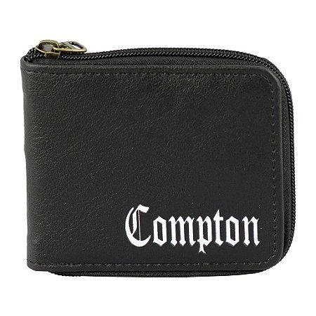 Carteira Porta Notas Cartão Compton Everbags Zíper