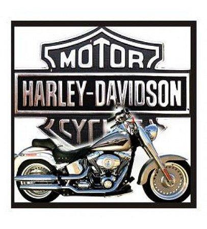 """Quadro Decorativo Vazado 30x30cm """"Harley Davidson"""" - ECOMIX"""