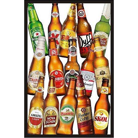 """Quadro Decorativo Vazado 30x45cm """"Cerveja"""" - ECOMIX"""
