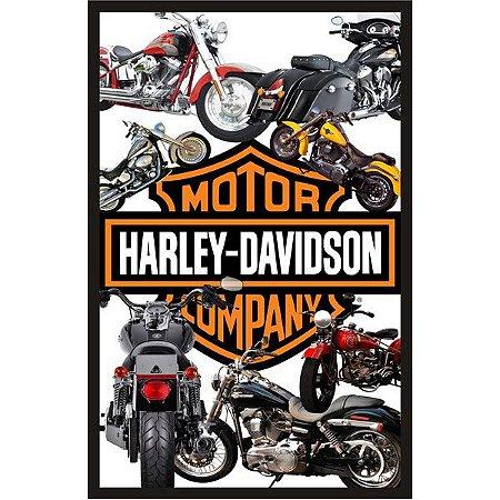 """Quadro Decorativo Vazado 30x45cm """"Harley Davidson"""" - ECOMIX"""
