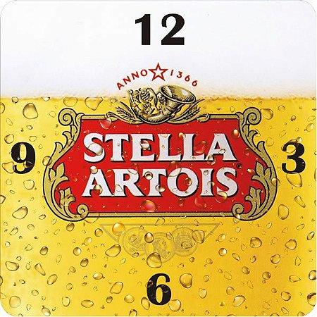 Relógio de Parede Quadrado Stella Artois - ECOMIX