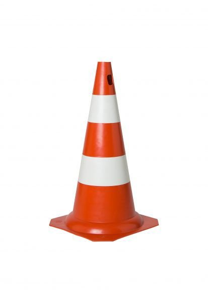 Cone De Sinalização Rígido 50 Cm - Laranja/Branco - KTELI