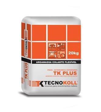 Argamassa Tk Plus Cinza 20 Kg - TECNOKOLL