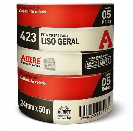 Kit Fita Crepe 24mm Com 5 Rolos - Adere