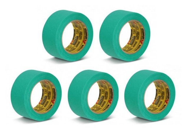 Kit Fita Crepe Automotiva 48mm Com 5 Rolos - Adere