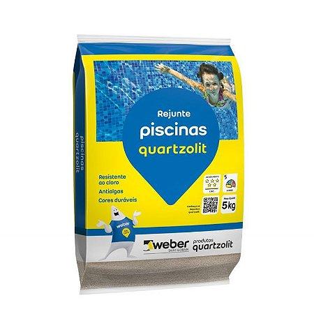Rejunte Piscinas Cinza Platina 5 Kg - Quartzolit