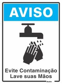 Placa Pvc 15 X 20 Lave As Mãos - Sinalize