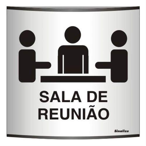 Placa Calandrada Sala De Reunião - Sinalize