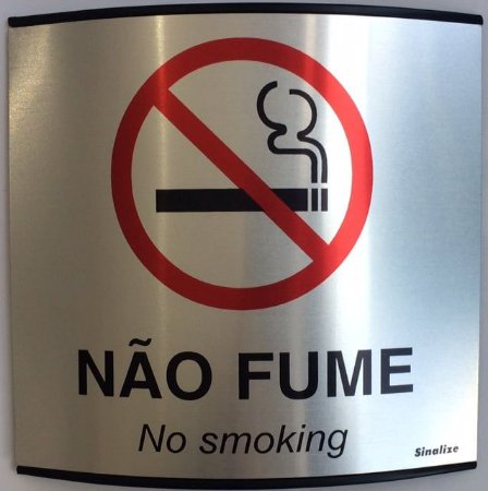 Placa Calandrada Proibido Fumar - Sinalize