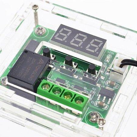 Case Para Termostato W1209 Controle De Temperatura  - Frete Grátis